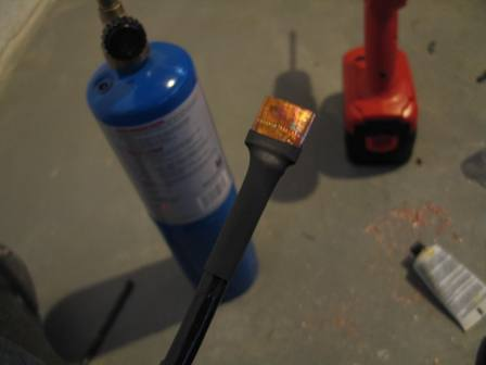 Heatshrunk cable end