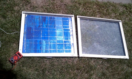 Solar Panel made with a window frame/glass